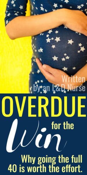 overdue pregnant woman