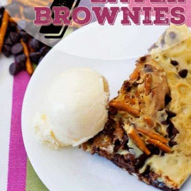 This seven layer brownie will have you lusting for more. The best part is you can sub in things YOUR family loves! Such a tasty option for cooking both inside and outside.