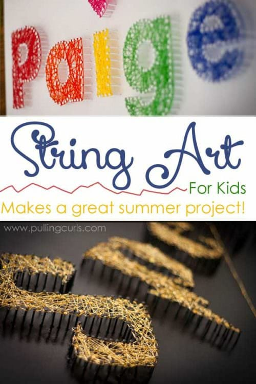 String art for kids | Ideas | Patterns | DIY | tutorial | how to make | Easy