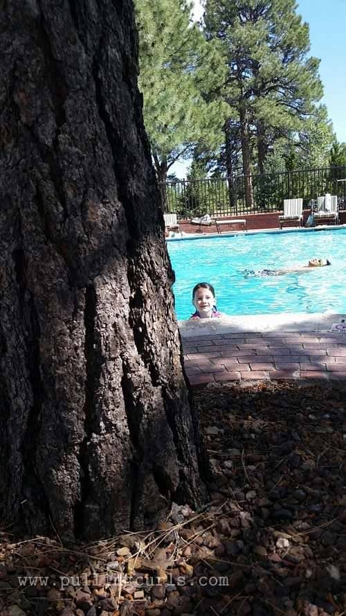 Love pool at Little America. Fun to swim surrounded by the pines.