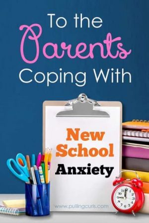 Having a child at a new school can make a parent SUPER nervous. Here's 3 ways to help you cope -- plus a great new book on some best parent practices for a school mom.