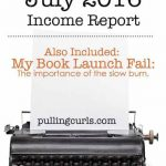Blogging for Income July 2016