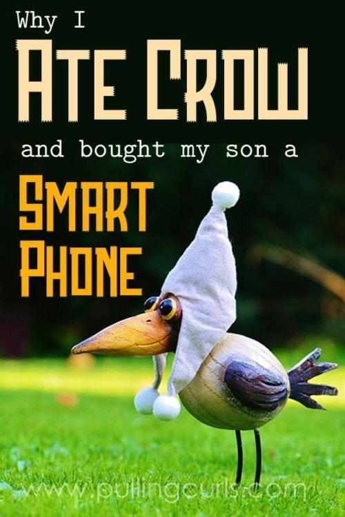Yup, after years of saying I'd never do it. I got my teen a smart phone. I didn't cow to his every wish. This was something I really thought out -- and here's why I did it, and how we did it without breaking the bank!