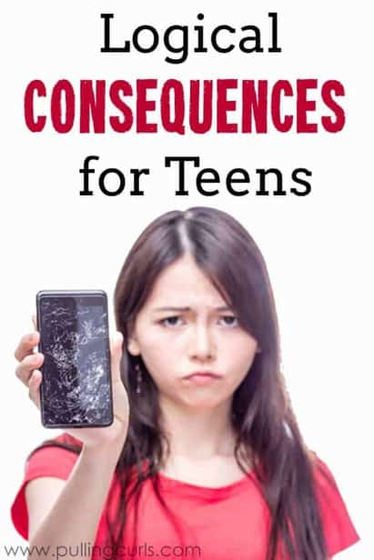 Teens have a lot of tough chocies, but sometimes having a clear picture of how the hammer will drop will help them make better choices. Natural consequences for teens are awesome, at teaching lessons. {less awesome if you're the teen} via @pullingcurls