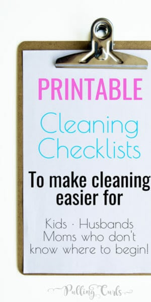 House Cleaning List This printable house cleaning list will give you a checkmark road to a clean house. Instead of feeling overwhelmed, just get it done, one check at a time!