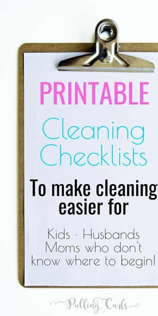 House Cleaning List -- This printable house cleaning list will give you a checkmark road to a clean house.  Instead of feeling overwhelmed, just get it done, one check at a time!