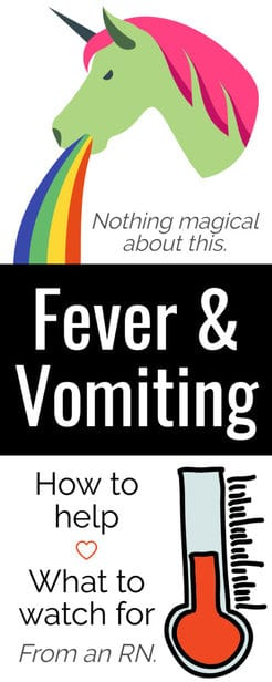 fever and vomiting in a toddler.