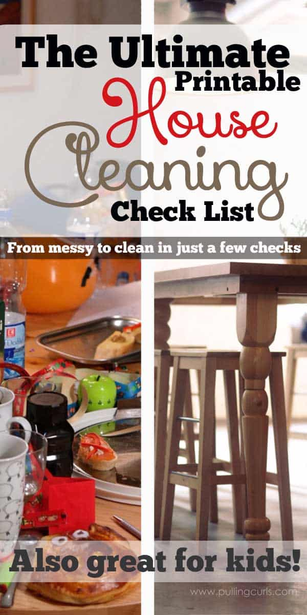 This printable house cleaning list will give you a checkmark road to a clean house. Instead of feeling overwhelmed, just get it done, one check at a time!
