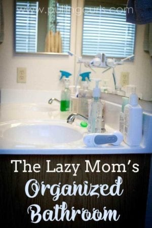 organize bathroom counter