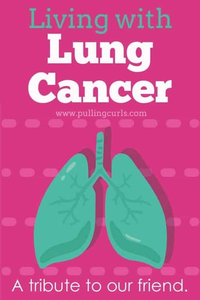 A diagnosis of death cancer seems like it should come with a coffin, but things are changing. There's lots that they can do, that you can do and lots of life left to be lived. Living with lung cancer can be amazing.