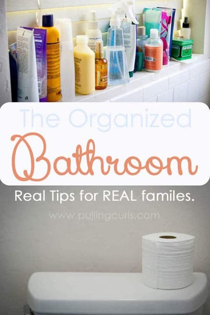 It seems like there are SO many other places in your house taking your attention before you take the time to organize bathroom. This post gives you 3 very-doable tips and tricks to corral all the products you feel like you need. :) via @pullingcurls