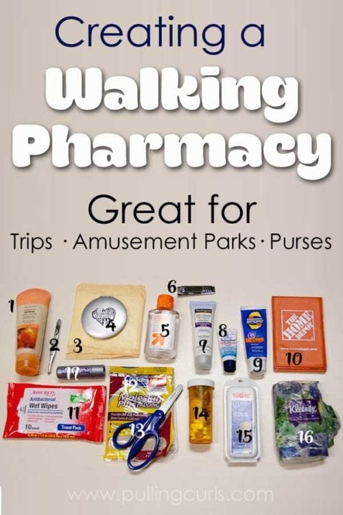 Walking pharmacy | Travel | Purses | how to organize