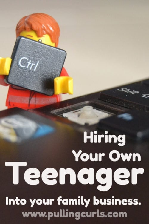 Hiring your own child can have a ton of AMAZING benefits, but also a lot of challenges you might need to cross through!