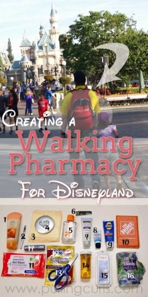 A walking pharmacy puts all the things you need available when you want to enjoy your day. What to bring to Disneyland is crucial for a great Disney day!