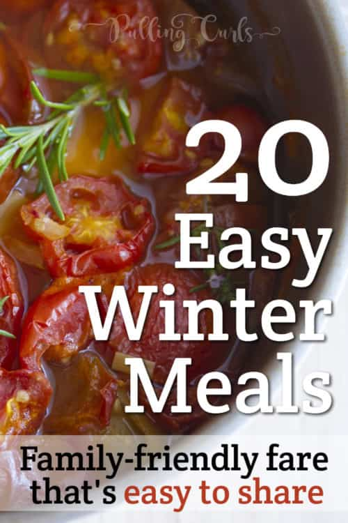 Easy winter meals includes soups, casseroles, and more.  These hearty winter recipes might even give you some winter lunch ideas for work too.