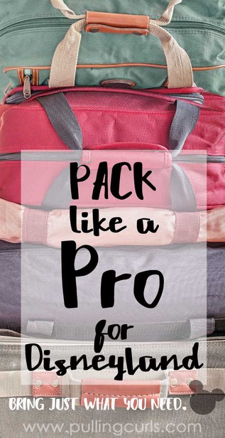 Disneyland packing list   for adults   kids   ideas   road trips   essentials   pack light   what to bring