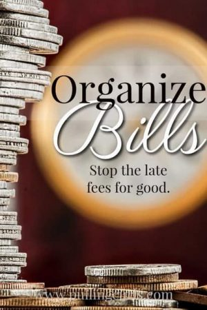 Organizing bills will be one of the best organization projects you can do -- save yourself from the guilt and late fees!