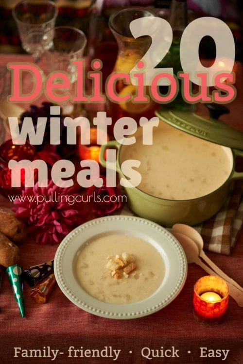 Easy Winter Meals | healthy | quick | crock pot | easy | hearty| cheap | cozy | warm | dinners |