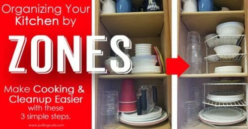 using zones to organize your kitchen.