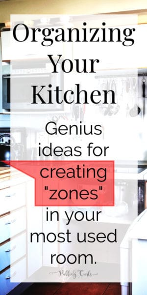 "creating ""zones"" in your kitchen"
