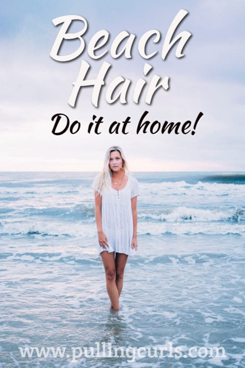 sea salt hair spray | water | curls | hair | beach hair