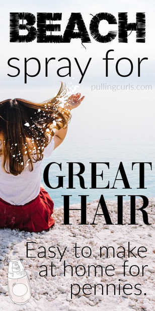 sea salt hair spray | water | curls | hair | beach hair via @pullingcurls