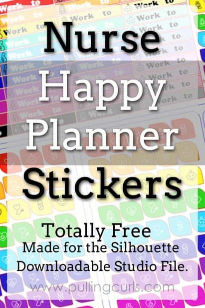 Nurse Happy Planner Stickers | Erin Condren | silhouette via @pullingcurls