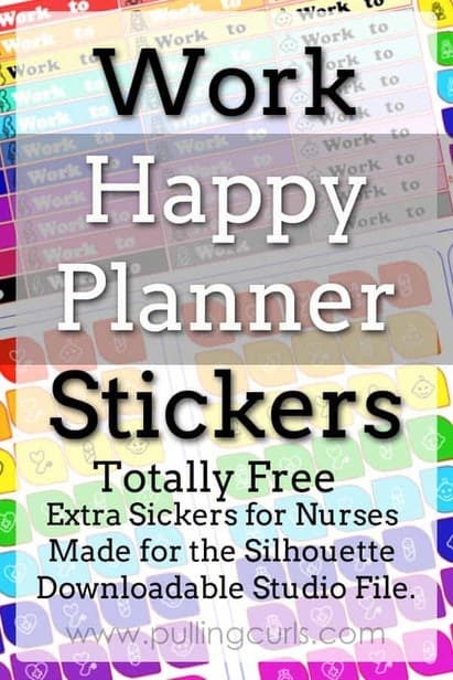 work happy planner stickers | erin condren | headers | nurse