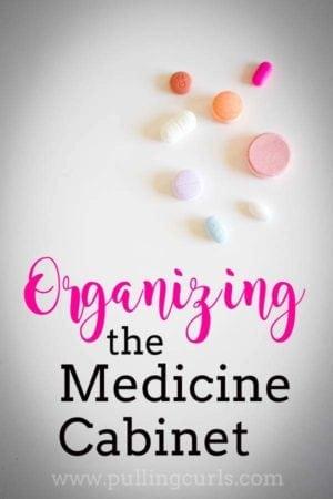 medicine cabinet organizaiton