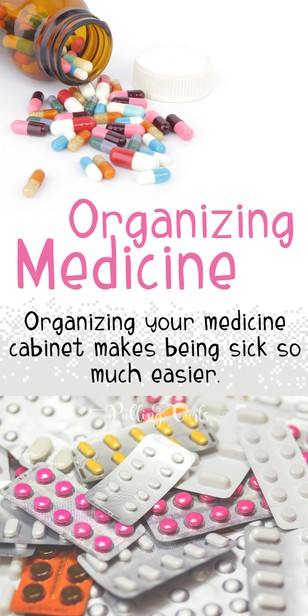 This post is going to give you my best medicine storage ideas from a nurse who doesn't have a medicine cabinet. All types of bottles will work with this medicine storage system without a medicine cabinet. via @pullingcurls