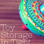 Playroom Ideas:  Toy storage when space is tight