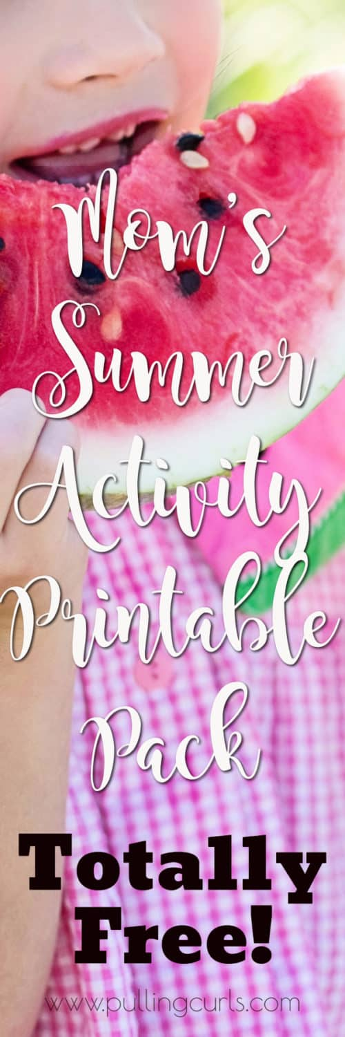 summer activity printable pack