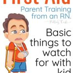 General First Aid Tips for Parents