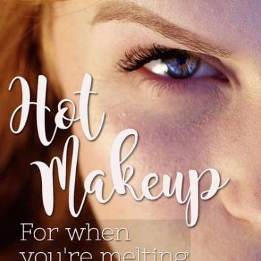makeup / summer / heat / hot / lipstick / eyeshadow