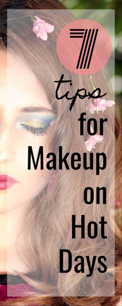 makeup / summer / heat / hot / lipstick / eyeshadow via @pullingcurls