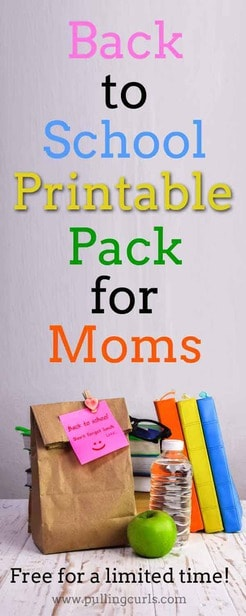 This selection of back to school printables will have your school year organized to a T. Hacks / first day /  via @pullingcurls