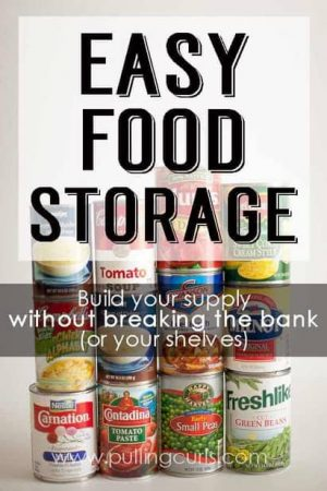 Long term food storage ideas that don't make you a hoarder or a pepper. Get prepared for an emergency on a budget, and in limited space! Organization / containers / list / pantries / room