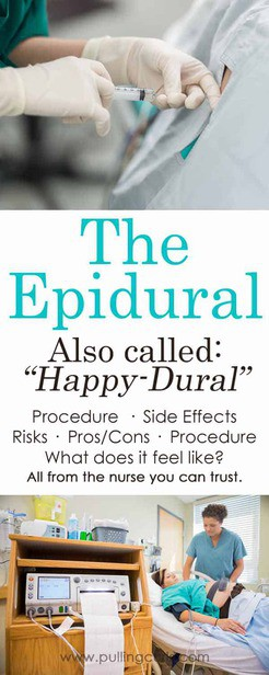 Epidurals during labor are commonplace in the United States.  Find out the pro's/con's, procedure, risks and benefits.  epidural side effects epidural long term side effects epidural risks epidural pros and cons epidural during labour epidural meaning does an epidural hurt epidural drug