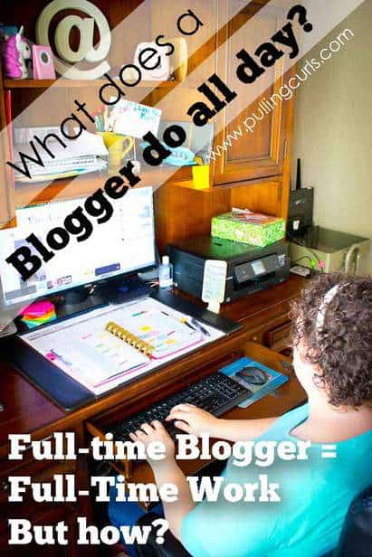Blogger time management / lifestyle / ideas / tips / wahm / work at home via @pullingcurls