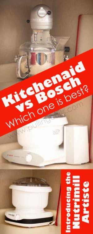 Nutrimill artiste ~ Bosch Universal ~ Kitchenaid Professional -- which one is the best for your family? To make bread, cookies, batters in your stand mixer?