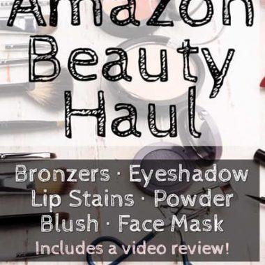 Amazon Beauty Haul - Blush, bronzer, eyeshadow, face masks, lip stains