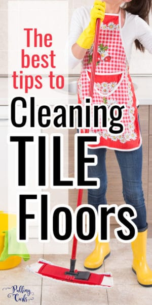 Cleaning tile floors with vinegar and baking soda