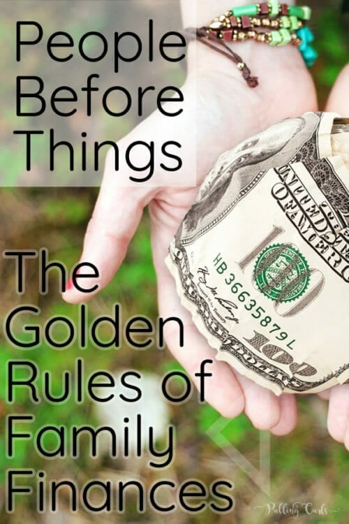 Family Finances -- People before things more than just spending a lot on others....