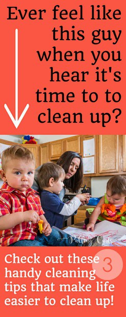 This lady has some SMART ideas for cleaning up fast from life's little messes.  What easy things to keep on hand!