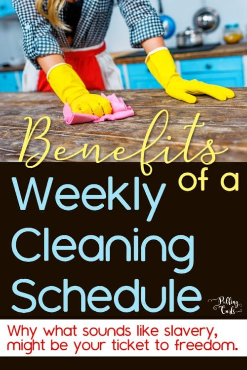 bneefits of a cleaning schedule