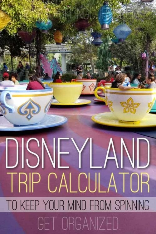 Disneyland trip calculator