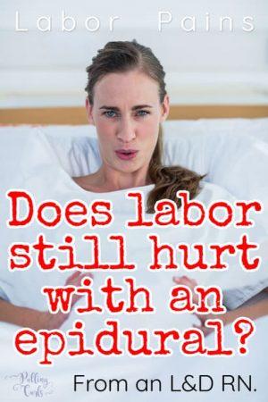 does epidural hurt