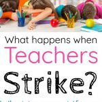 What happens during a teacher strike