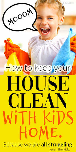 How can we keep the house clean with kids home all day? via @pullingcurls
