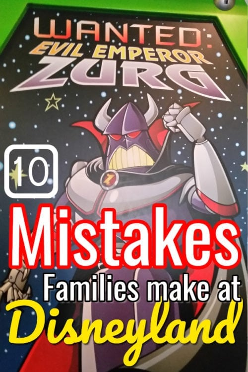 mistakes families make before Disneyland